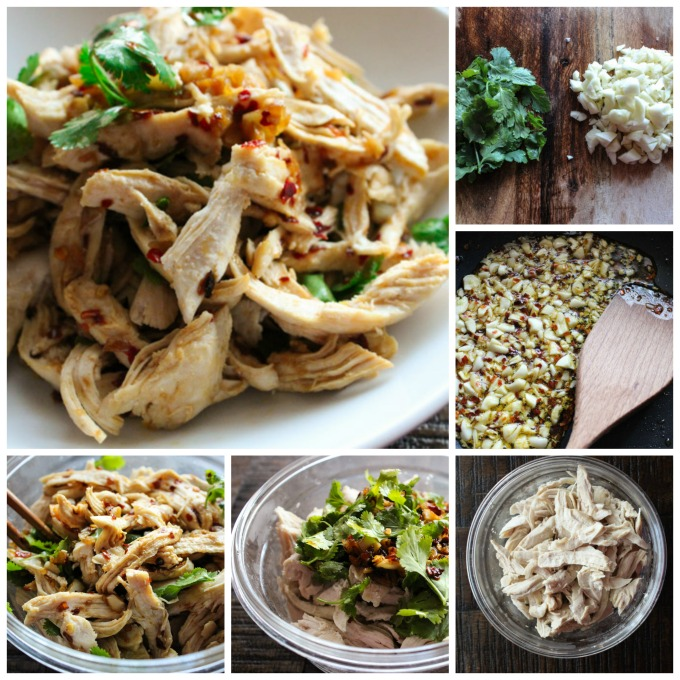 how to make shredded chicken salad