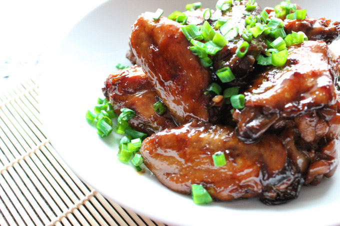 Sugar Braised Chicken Wings