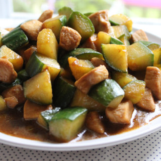 Easy Chicken with Cucumber