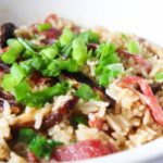 Chinese Sausage and Mushroom Rice‏