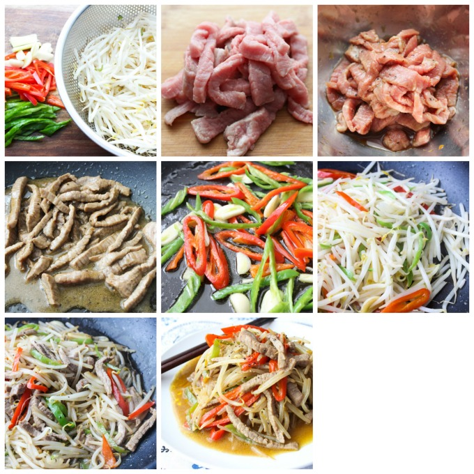 How to make beef and bean sprouts