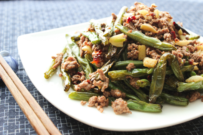 Spicy Ground Beef and Breen Beans-2