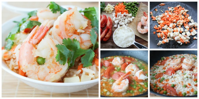 How to make shrimp simmered rice