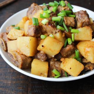 Korean-style Pork Rib and Potato