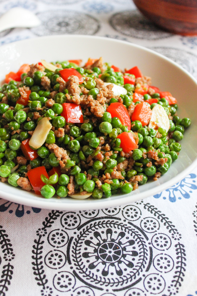 Ground pork with English Green Peas Recipe