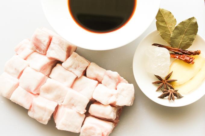 Sugar Braised Pork Belly Ingredients