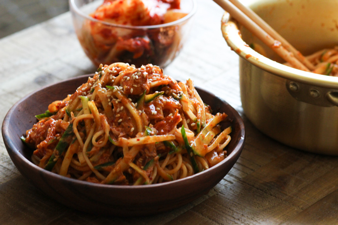 Cold Noodles with Tuna and Kimchi-3