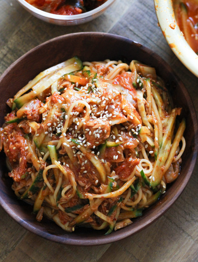 Cold Noodles with Tuna and Kimchi-5