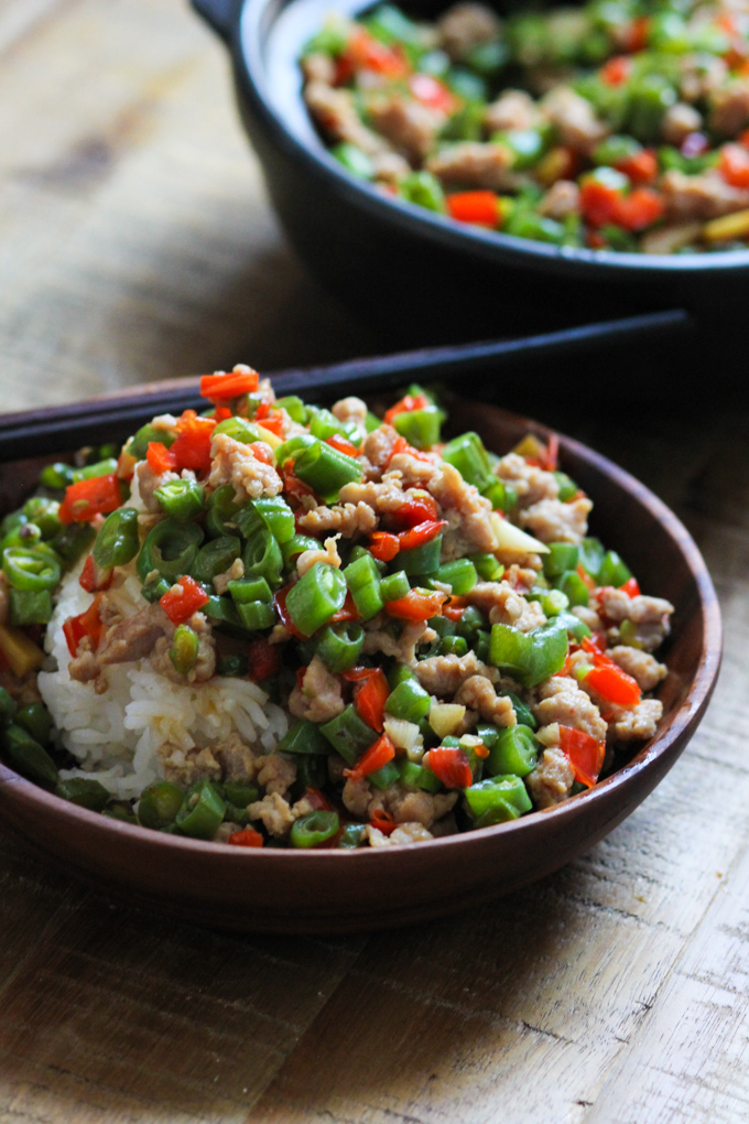 Minced pork with string beans-11