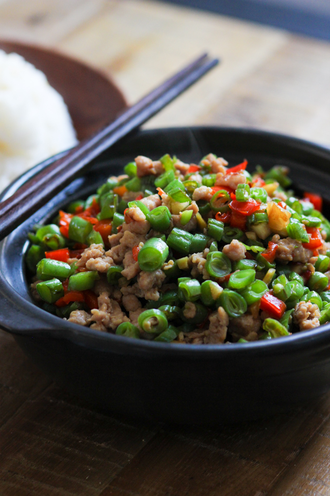 Minced pork with string beans