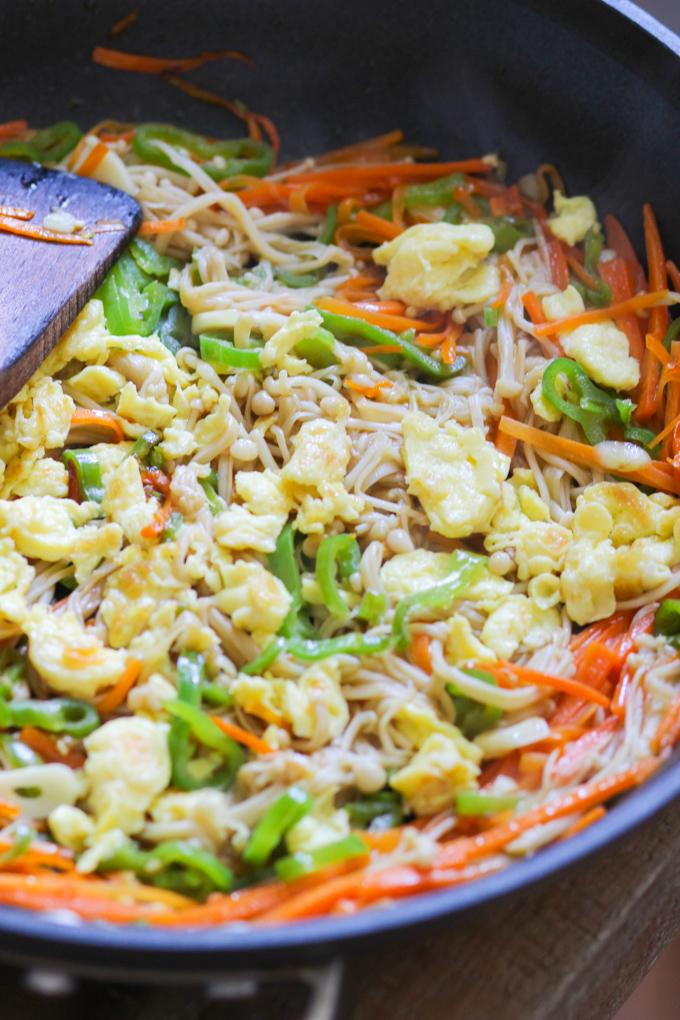 Scrambled Egg Vegetable Stir Fry-2