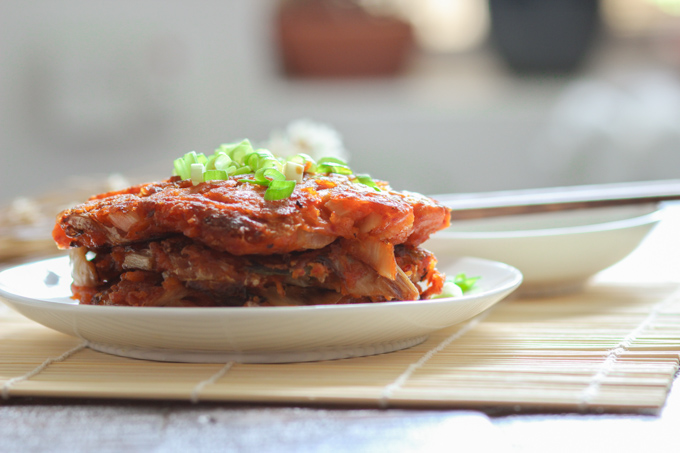 Homemade Kimchi Pancakes