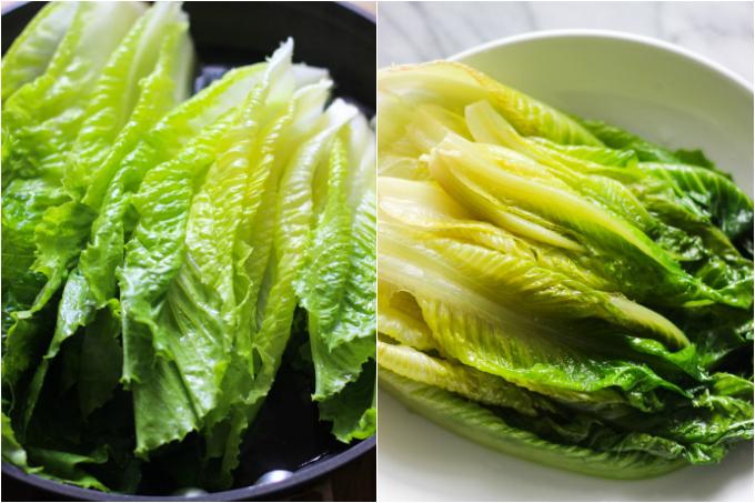 garlic-sauce-romaine-lettuce-step-one