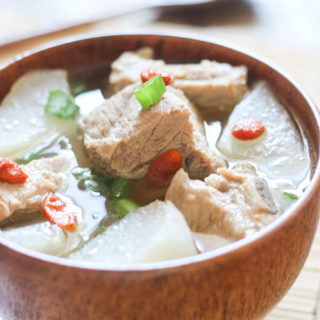 Pork Rib Soup with Daikon
