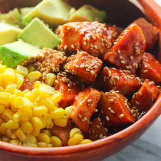 Sriracha Chicken and Avocado Bowl