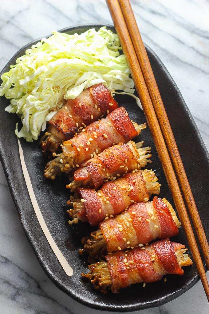 Bacon-Wrapped Enoki