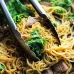 Beef and Kale Stir-fried Noodles