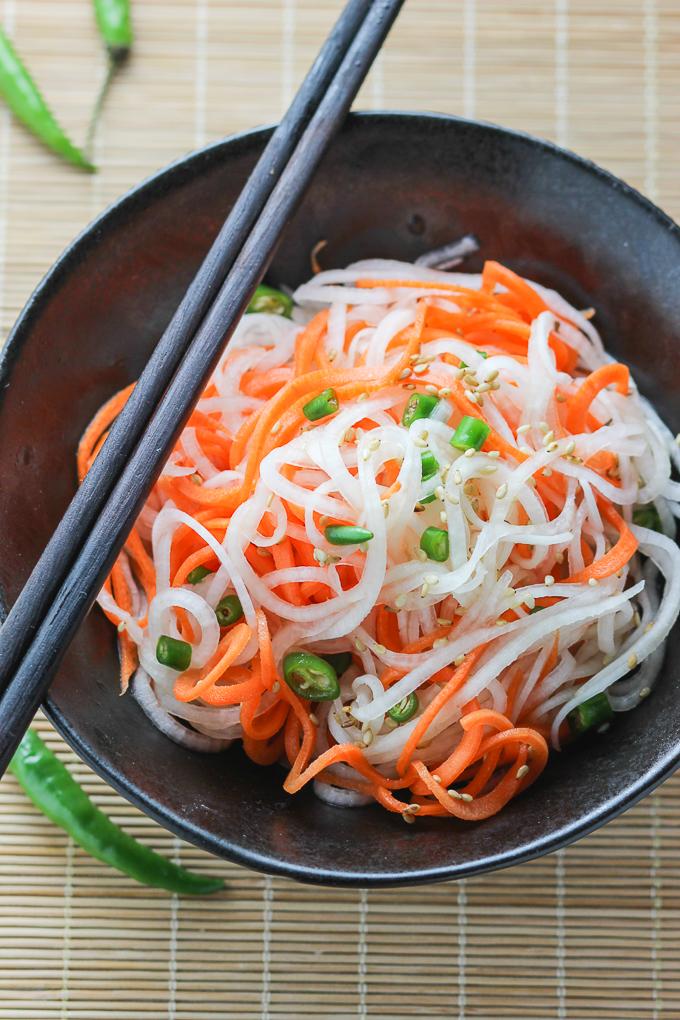 Carrot and Daikon Salad