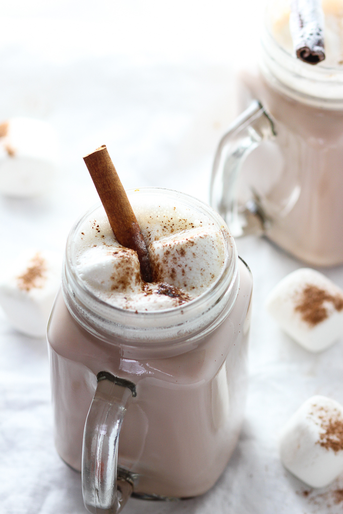 Hot Chocolate with cinnamon stick