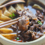Simple Japanese Hot Pot (Sukiyaki)
