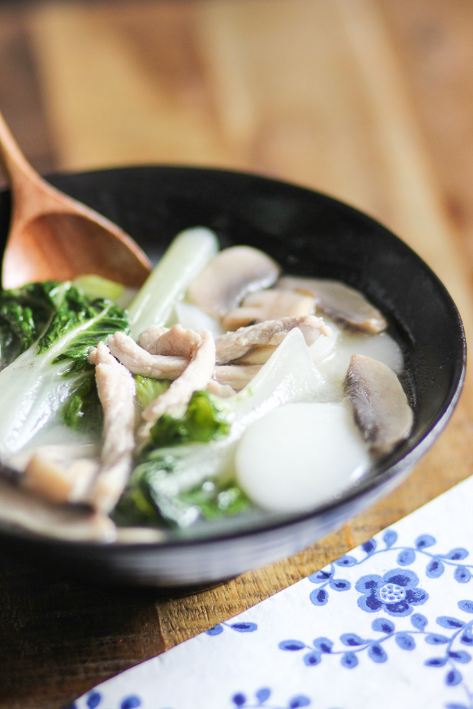Shanghai style rice cake soup-11