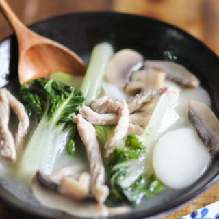 Shanghai Style Rice Cake Soup