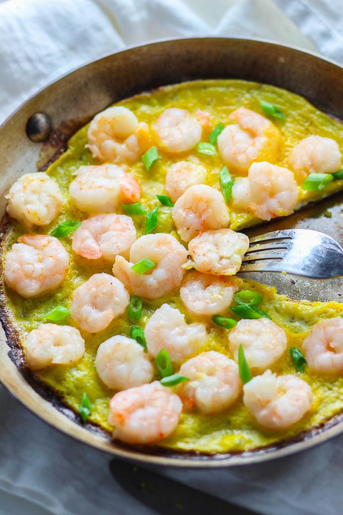 Shrimp and Egg Pancake
