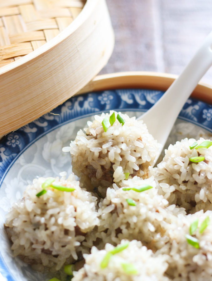 Steamed Meat Balls with Sticky Rice