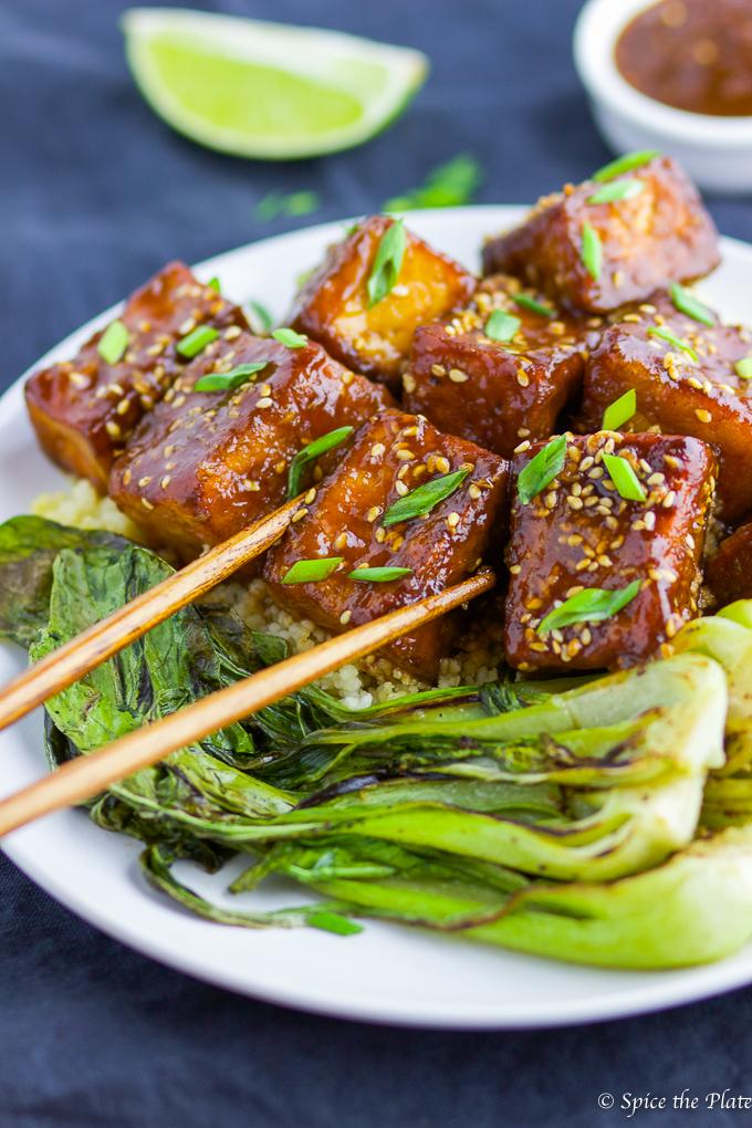 Soy-Brown Sugar Glazed Pan-fried Tofu