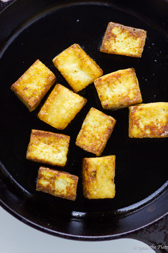 Pan-fried Crispy Tofu