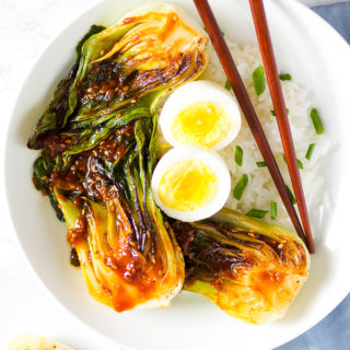 Spicy Cast Iron Grilled Bok Choy -10
