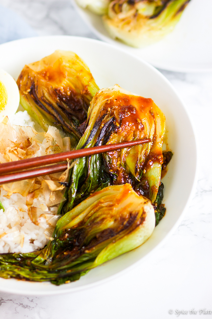 Spicy Grilled Bok Choy