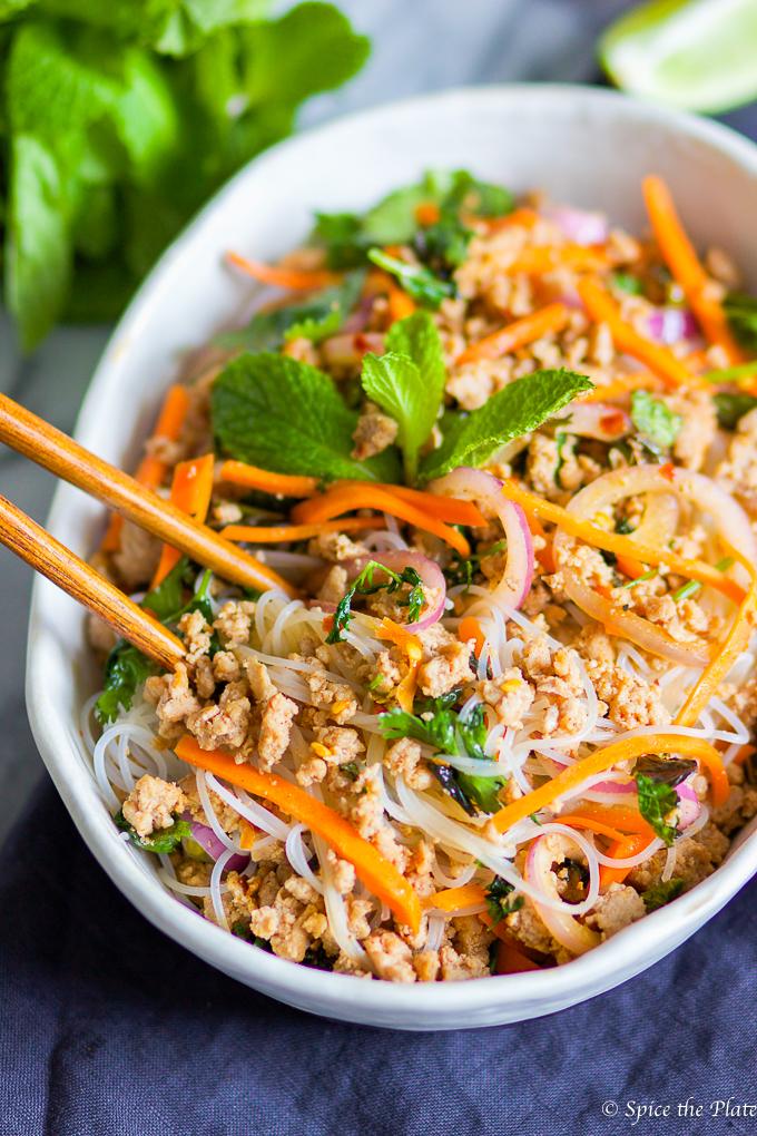 Spicy Thai Minced Pork (Larb)