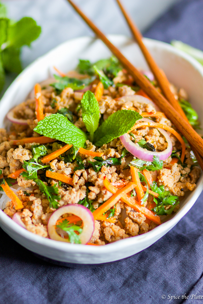 how to make larb pork