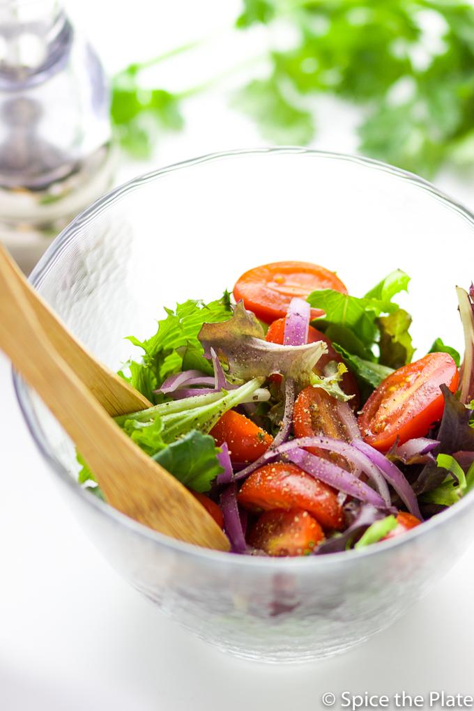 Salad with vinaigrette dressing