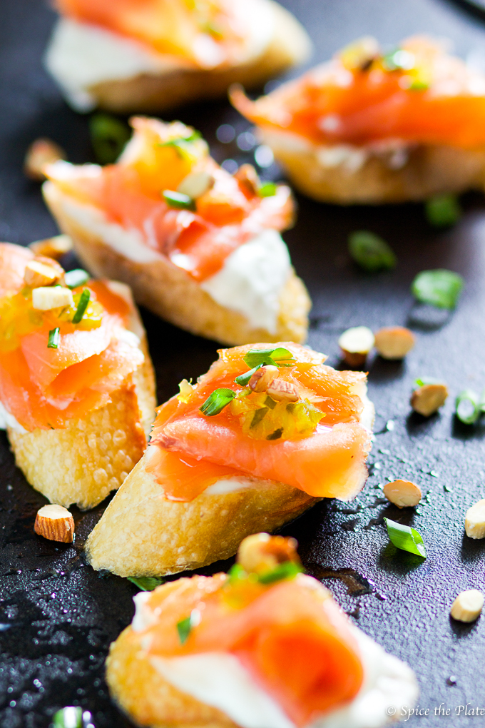 Delicious Homemade Smoked Salmon Montadito