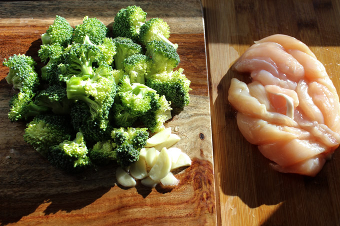 Chicken and Broccoli ingredients