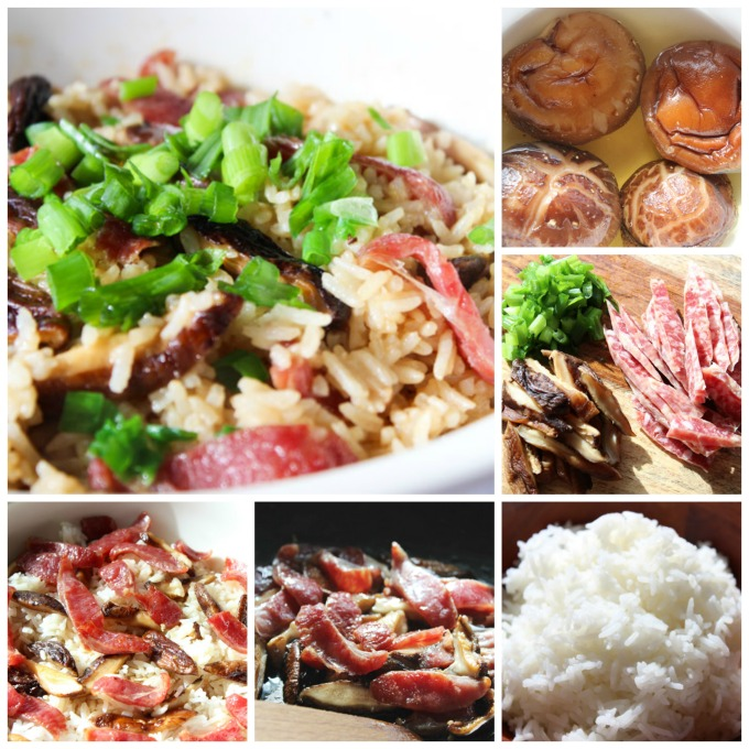 How to Make Tasty Chinese Sausage and mushroom rice