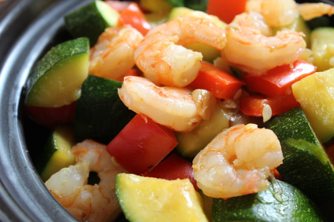 Healthy Shrimp with Zucchini