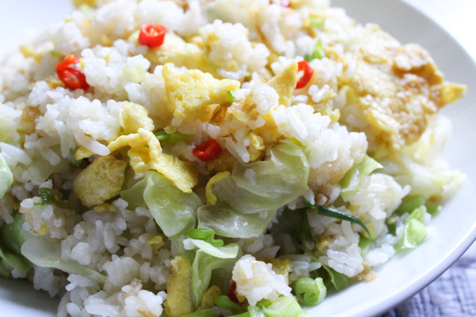 Cabbage fried rice made easy