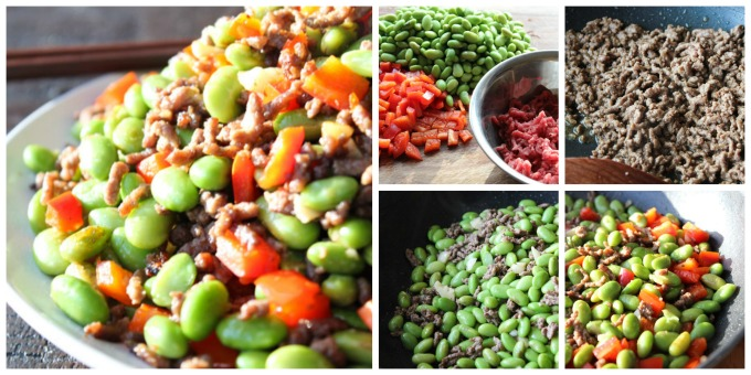 How to Make Easy Ground Beef and EdamameEasy Ground Beef and Edamame
