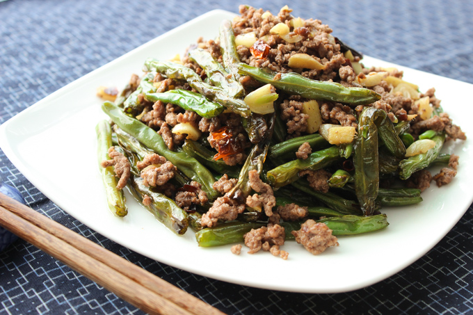 Spicy Ground Beef and Breen Beans-1
