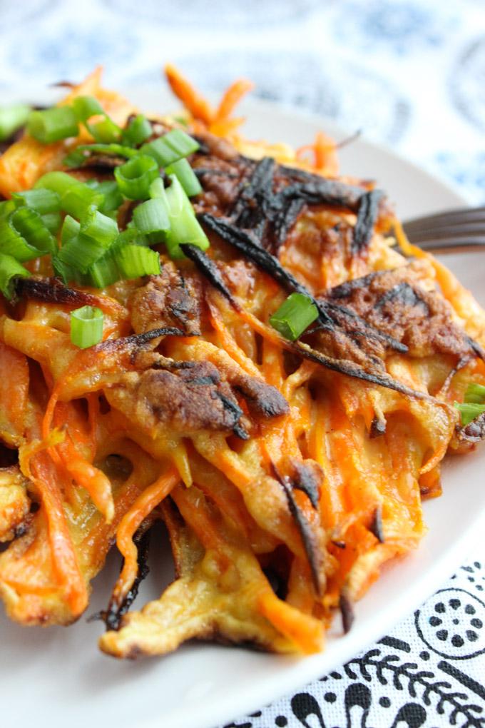 Tasty carrot pancake