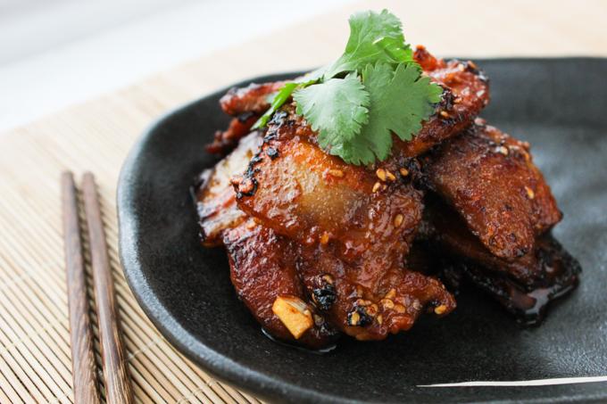 Korean style pan-fried pork belly-7