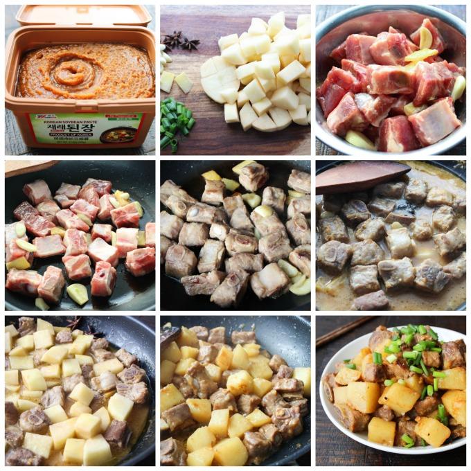 How to make Korean-style pork ribs and potato
