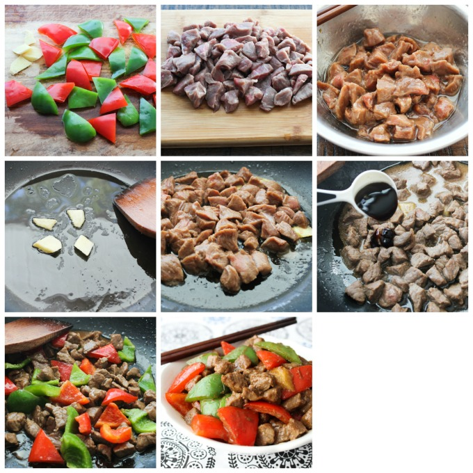 How to make beef with peppers
