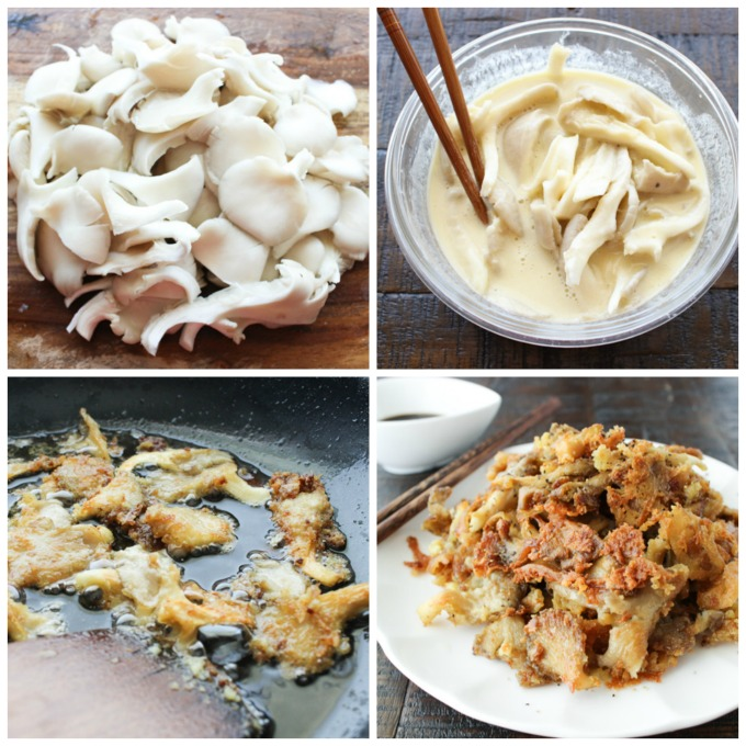 How to make fried mushroom as snack