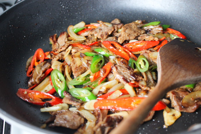Beef and Onion Stir-fry-5