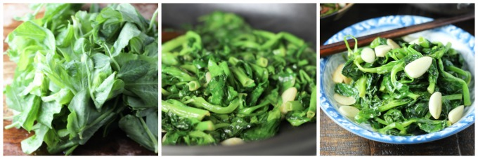 How to make Garlic Pea Shoot
