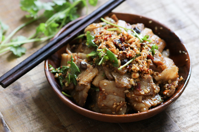 Pork Belly with Spicy Garlic Sauce Image